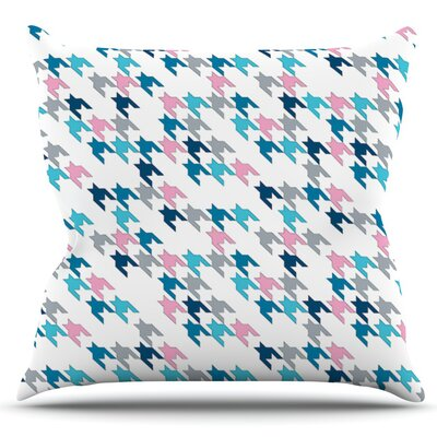 Tooth by Project M Outdoor Throw Pillow Color: Blue