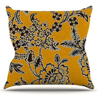 Blossom by Vikki Salmela Outdoor Throw Pillow Color: Yellow