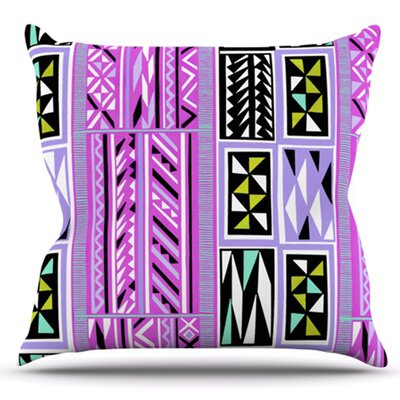 American Blanket Pattern by Vikki Salmela Outdoor Throw Pillow Color: Pink/Green