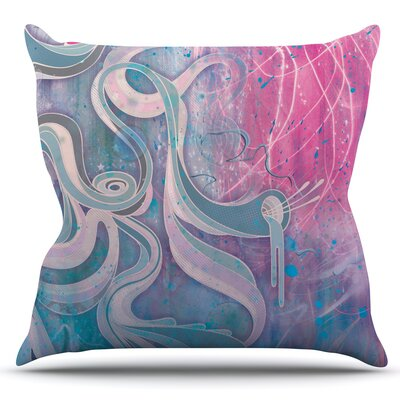 Electric Dreams by Mat Miller Outdoor Throw Pillow Color: Pink/Blue