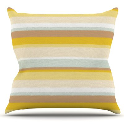 Stripes by Nika Martinez Outdoor Throw Pillow Color: Sand