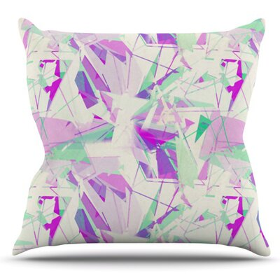Shatter by Alison Coxon Outdoor Throw Pillow Color: Purple