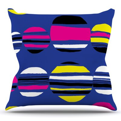 Retro Circles by Emine Ortega Outdoor Throw Pillow Color: Pastel
