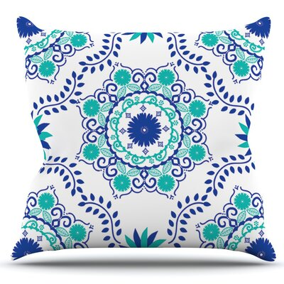Lets Dance by Anneline Sophia Outdoor Throw Pillow Color: Blue