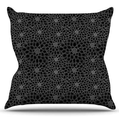 Flowers by Julia Grifol Outdoor Throw Pillow Color: White