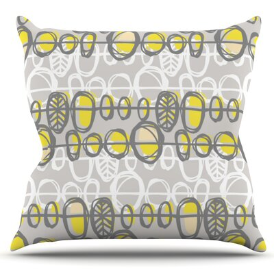 Benin by Gill Eggleston Outdoor Throw Pillow Color: Yellow/Gray