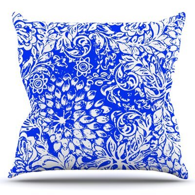 Bloom for You by Vikki Salmela Outdoor Throw Pillow Color: Green/Gray