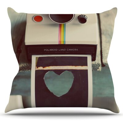 Polaroid Love by Cristina Mitchell Outdoor Throw Pillow