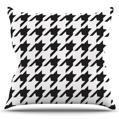 Spacey Houndstooth by Empire Ruhl Outdoor Throw Pillow