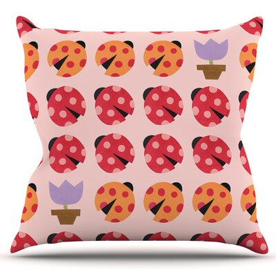 Seasons Spring by Jane Smith Outdoor Throw Pillow