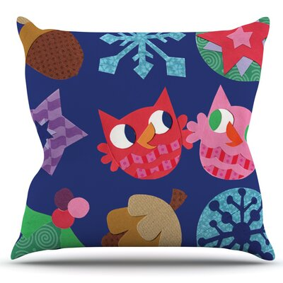 Winter Repeat by Jane Smith Outdoor Throw Pillow