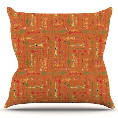 Vintage Arrows by Jane Smith Outdoor Throw Pillow