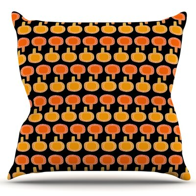 Vintage Mushroom by Jane Smith Outdoor Throw Pillow