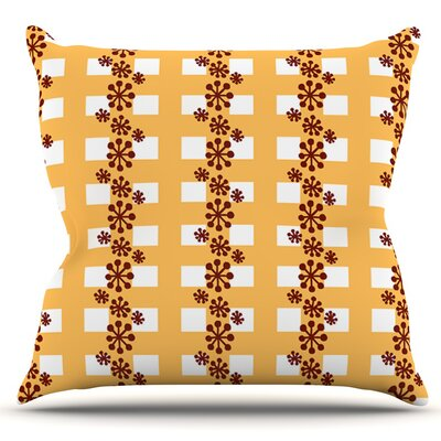Mushroom Repeat by Jane Smith Outdoor Throw Pillow
