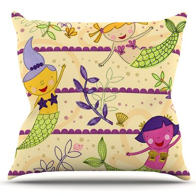 Under the Sea by Jane Smith Outdoor Throw Pillow