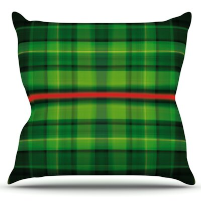 Tartan by Matthias Hennig Outdoor Throw Pillow