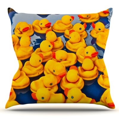 Duckies by Maynard Logan Outdoor Throw Pillow