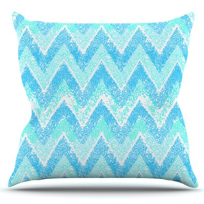 Snow Chevron by Marianna Tankelevich Outdoor Throw Pillow