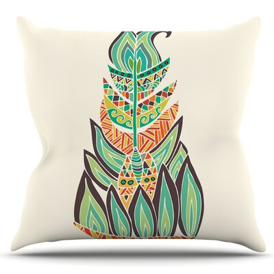 Tribal Feather by Pom Graphic Design Outdoor Throw Pillow