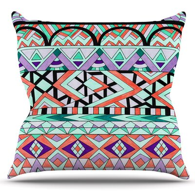 Tribal Invasion by Pom Graphic Design Outdoor Throw Pillow
