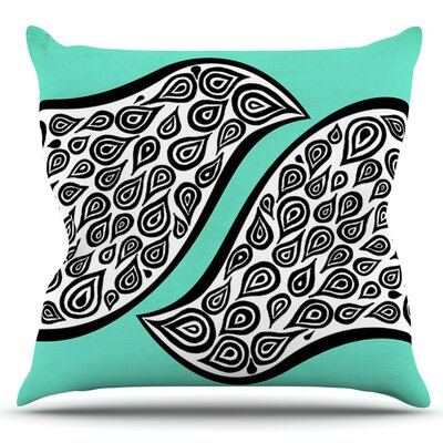 Two Romantic Birds by Pom Graphic Design Outdoor Throw Pillow