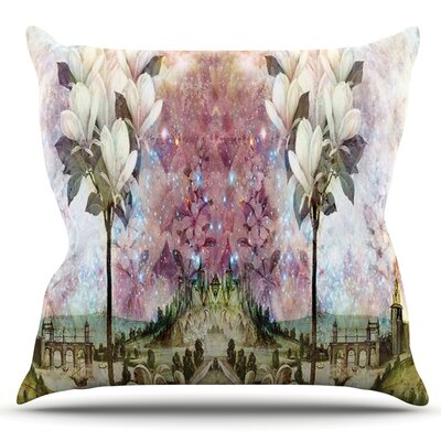 The Magnolia Trees by Suzanne Carter Outdoor Throw Pillow