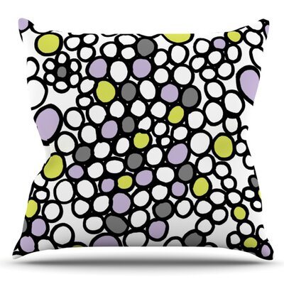 Pebbles by Emine Ortega Outdoor Throw Pillow Color: Pink