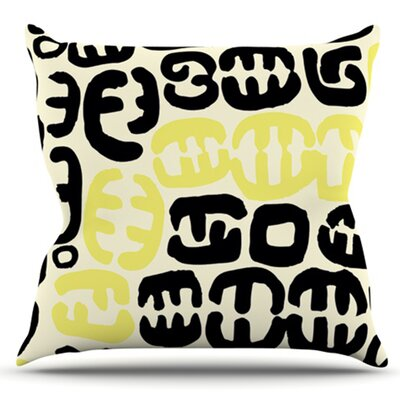 Oliver by Theresa Giolzetti Outdoor Throw Pillow Color: Yellow/Black