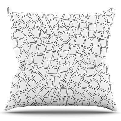 British Mosaic by Project M Outdoor Throw Pillow Color: White