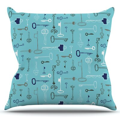 Keys by Laurie Baars Outdoor Throw Pillow Color: Blue