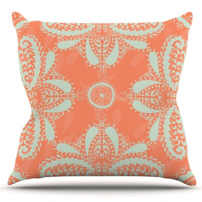 Motifs by Nandita Singh Outdoor Throw Pillow Color: Green