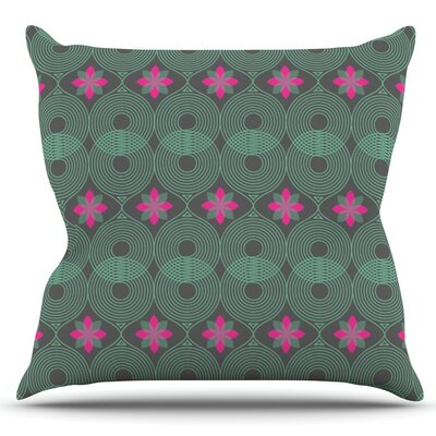 Pattern by Deepti Munshaw Outdoor Throw Pillow Color: Pink