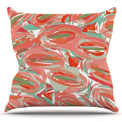 Go Left by Matthias Hennig Outdoor Throw Pillow Color: Red