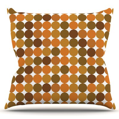 Outdoor Throw Pillow Color: Orange Harvest