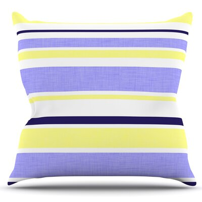 Jack Tar by Alison Coxon Outdoor Throw Pillow Color: Purple