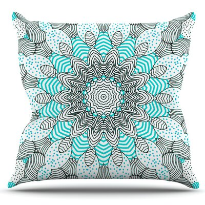 Dots and Stripes by Monika Strigel Outdoor Throw Pillow Color: Mint