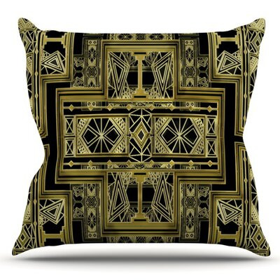 Art Deco by Nika Martinez Outdoor Throw Pillow Color: Green/Blue