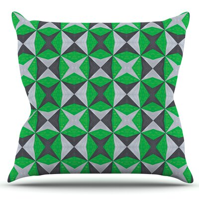 Abstract by Empire Ruhl Outdoor Throw Pillow