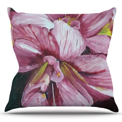 Day Lily Blooms by Cathy Rodgers Outdoor Throw Pillow