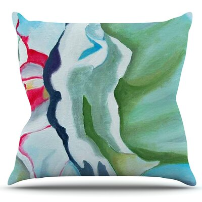 Peony Shadows by Cathy Rodgers Outdoor Throw Pillow