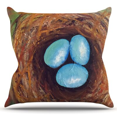 Robins Eggs by Cathy Rodgers Outdoor Throw Pillow
