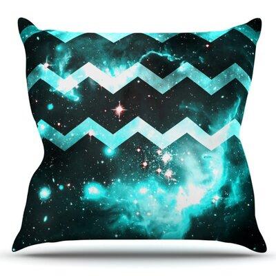 Galaxy Chevron by Alveron Outdoor Throw Pillow
