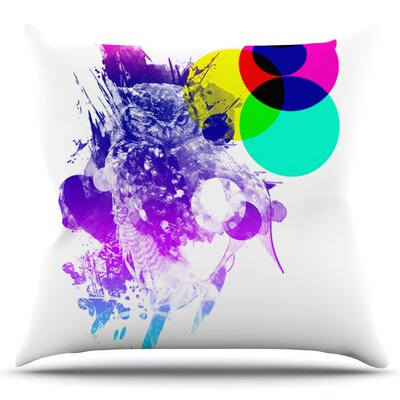Owl by Frederic Levy-Hadida Outdoor Throw Pillow