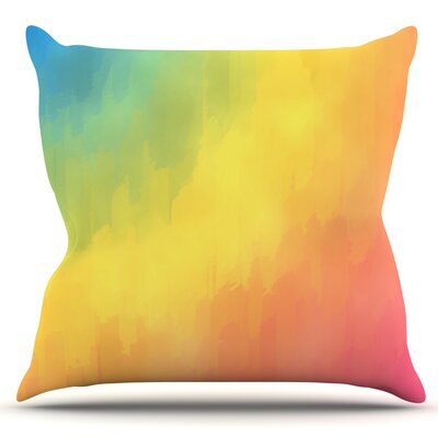 Watercolor Layers by Fotios Pavlopoulos Outdoor Throw Pillow