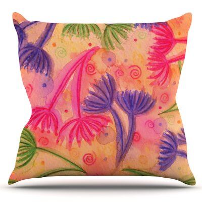 Cow Parsley by Ebi Emporium Outdoor Throw Pillow