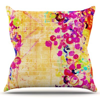 Wall Flowers by Ebi Emporium Outdoor Throw Pillow