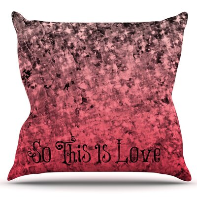 So This Is Love by Ebi Emporium Outdoor Throw Pillow