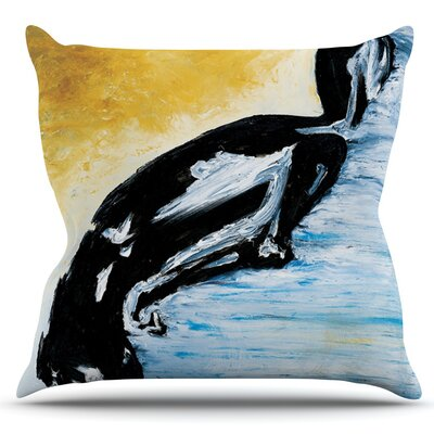 Hangin 10 by Josh Serafin Outdoor Throw Pillow