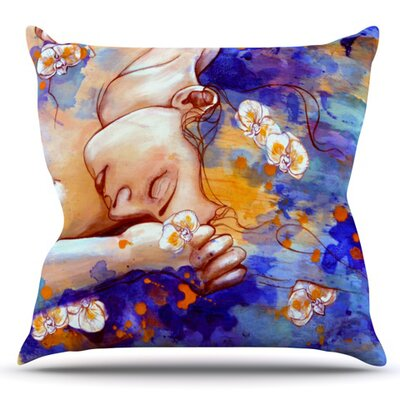 A Deeper Sleep by Kira Crees Outdoor Throw Pillow