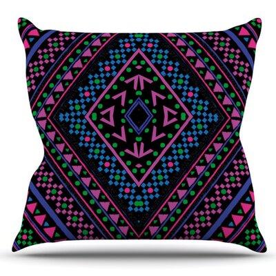 Neon Pattern by Nika Martinez Outdoor Throw Pillow